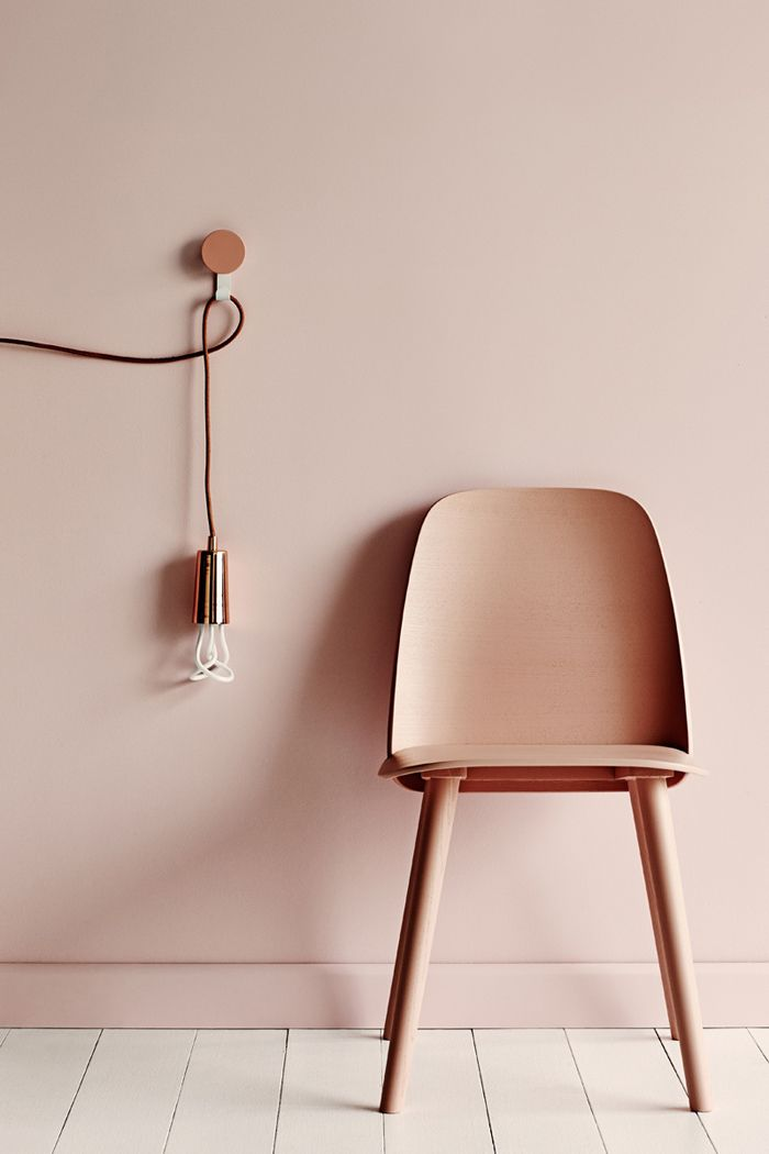 blush Rose chair copper lighting plumen