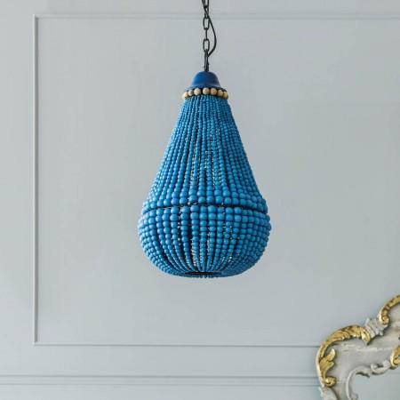 Masonic villas lighting making spaces stc8111 loire blue bead chandelier aloadofball Image collections