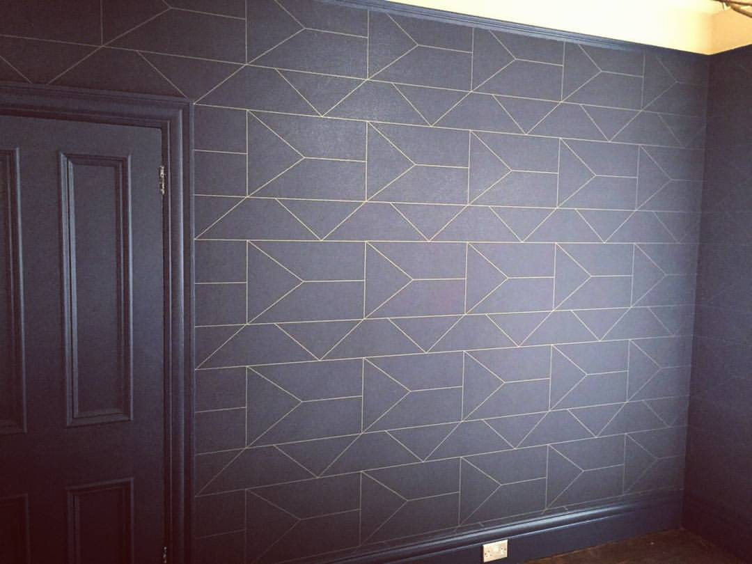ferm living lines wallpaper making spaces. Black Bedroom Furniture Sets. Home Design Ideas