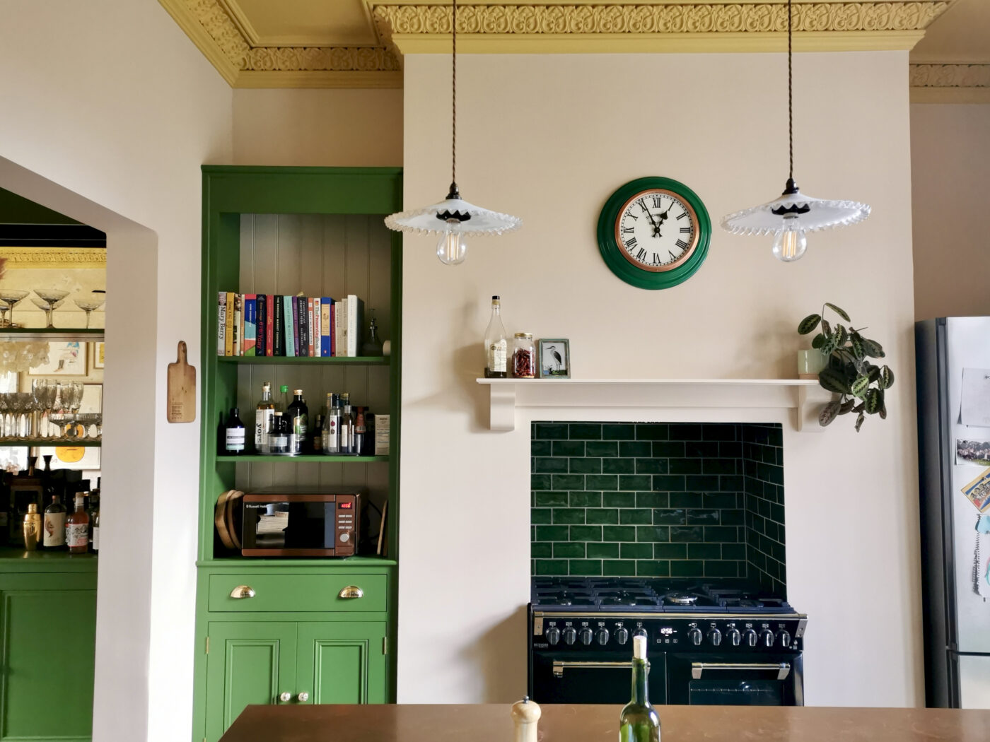 The Victorian Kitchen and Dining Room - the one with the yellow ceiling